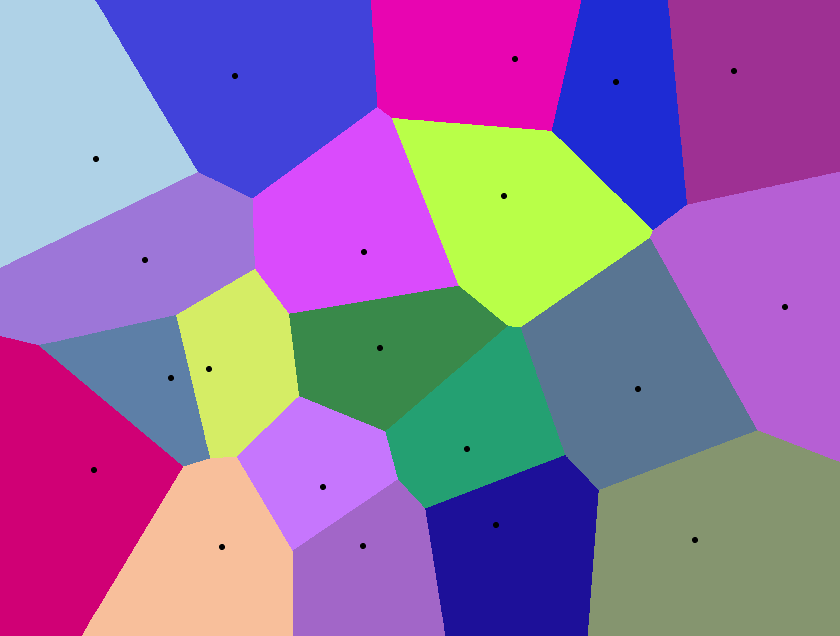 Sample Voronoi diagram